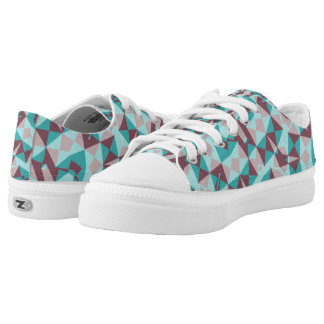 Abstract multicolored modern trendy pattern low tops