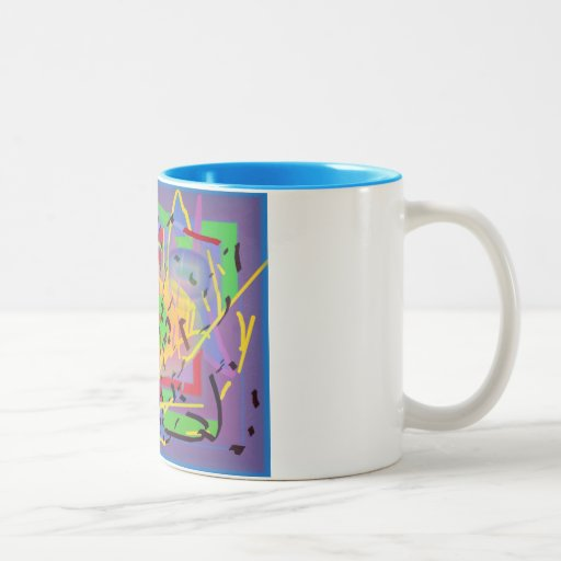 Abstract multicolored mug