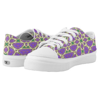 Abstract multicolored nice unique pattern low tops