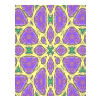 Abstract multicolored pattern 21.5 cm x 28 cm flyer