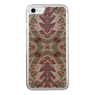 Abstract Multicolored Pattern Carved iPhone 8/7 Case
