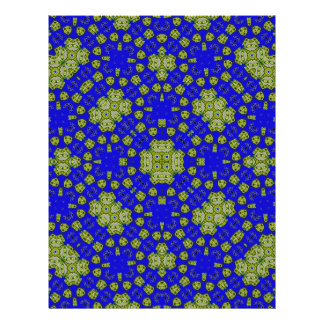 Abstract multicolored pattern custom flyer