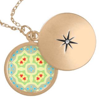 Abstract Multicolored Pattern Locket