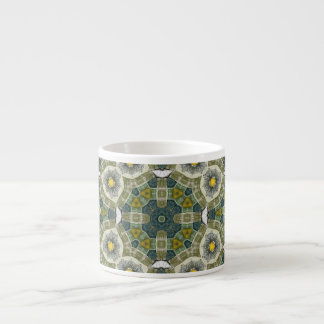 Abstract Multicolored Pattern Espresso Cup