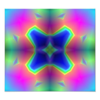 abstract multicolored Pattern Photographic Print