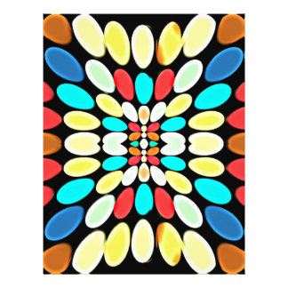 Abstract Multicolored Petals Pattern Flyer Design