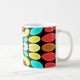 Abstract Multicolored Petals Pattern Mugs