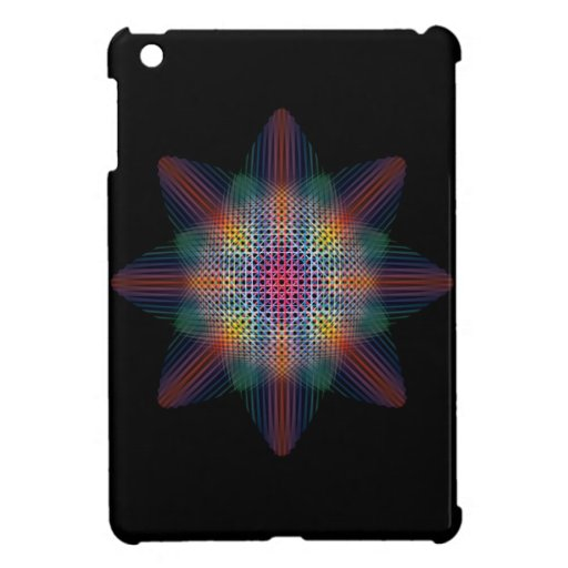 Abstract Multicolored Star Case For The iPad Mini