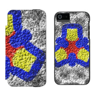 Abstract multicolored texture pattern incipio watson™ iPhone 5 wallet case