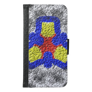 Abstract multicolored texture pattern samsung galaxy s6 wallet case
