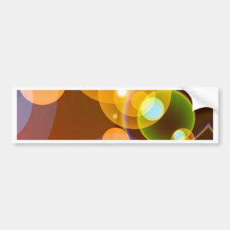 Abstract Multicolour Len Flare Bumper Stickers