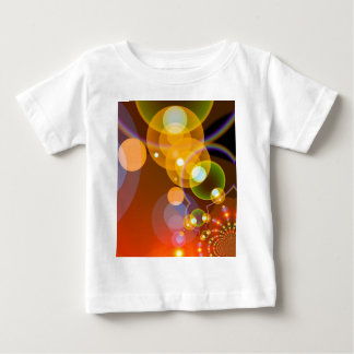Abstract Multicolour Len Flare Tee Shirts