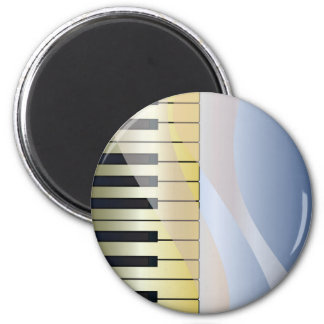 Abstract Music Background 6 Cm Round Magnet