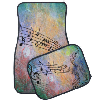 abstract music car mat