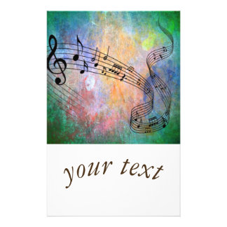 abstract music 14 cm x 21.5 cm flyer