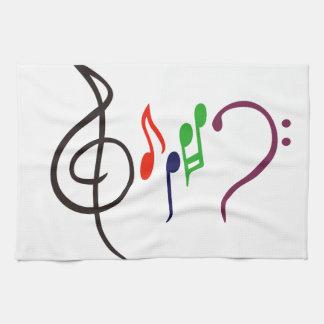 Abstract Music Logo Tea Towel