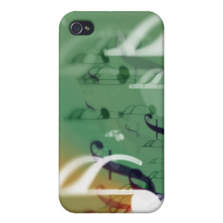 Abstract Music Notes iPhone 4 Case