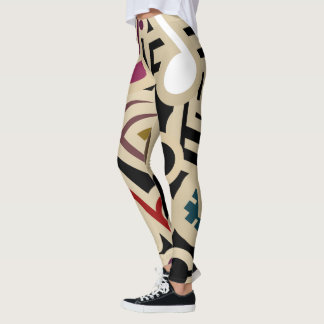 Abstract Music Notes Leggings