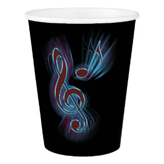 Abstract music. paper cup
