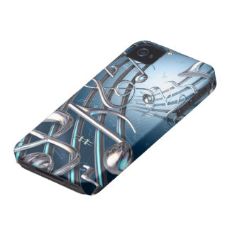 Abstract Musical Notes iPhone 4 Cover