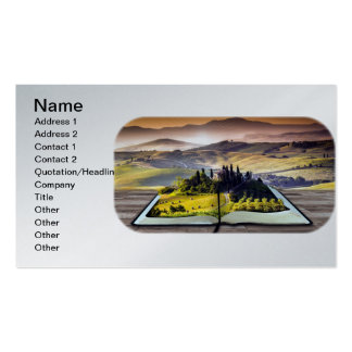Abstract Nature Landscape for the Book Reader Pack Of Standard Business Cards