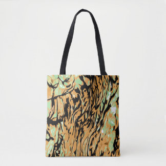 Abstract Nature Pattern Tote Bag