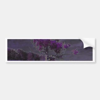 Abstract Nature Purple and Lavender Tree & Flowers Bumper Stickers