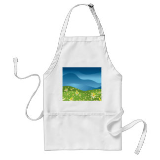 Abstract nature standard apron