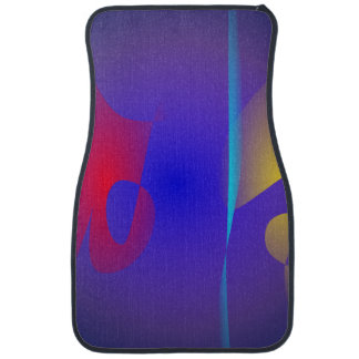 Abstract Navy and Purple Floor Mat