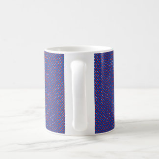 Abstract Navy Red Spotty Mug
