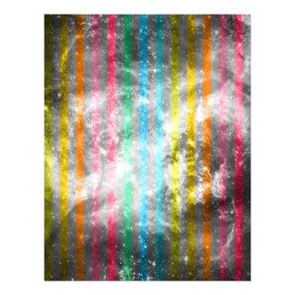 Abstract Nebula MultiColors Stripes Pattern Flyer