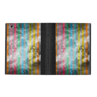 Abstract Nebula MultiColors Stripes Pattern iPad Cover