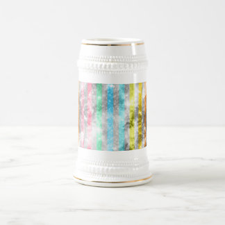Abstract Nebula MultiColors Stripes Pattern Coffee Mug