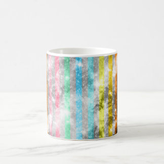 Abstract Nebula MultiColors Stripes Pattern Coffee Mugs