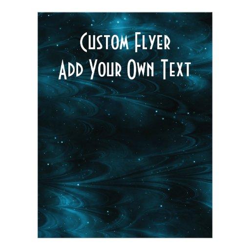 Abstract Nebula Texture - Blue 21.5 Cm X 28 Cm Flyer