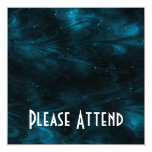 Abstract Nebula Texture - Blue 13 Cm X 13 Cm Square Invitation Card