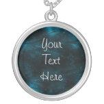 Abstract Nebula Texture - Blue Pendant
