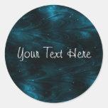 Abstract Nebula Texture - Blue Round Sticker