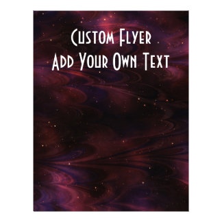Abstract Nebula Texture - Pink Custom Flyer