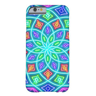 Abstract Neon Blue Flower Barely There iPhone 6 Case
