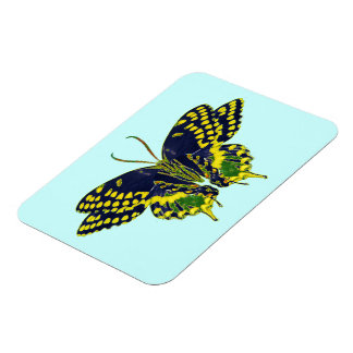 Abstract Neon Butterfly Magnet