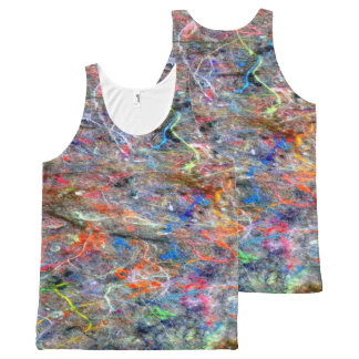 Abstract Neon Colors Art Splatter Cool Tank Top All-Over Print Tank Top