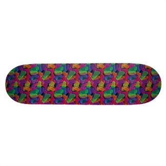 Abstract Neon Colors Skateboard