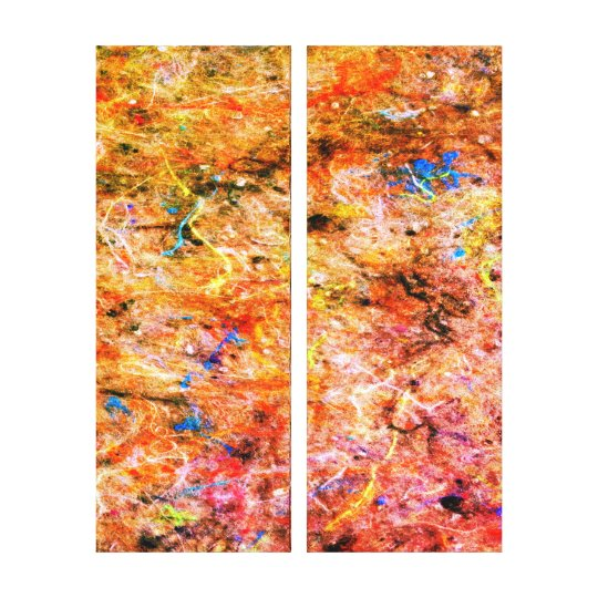 Abstract Neon Colours Art Splatter Gallery Canvas