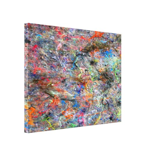 Abstract Neon Colours Art Splatter Gallery Canvas Canvas