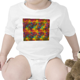 Abstract Neon Green Blue Purple Orange Fractal Baby Bodysuits