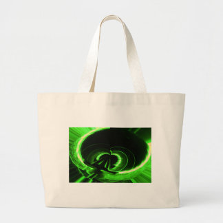 Abstract Neon Green Circle UFO Tote Bags