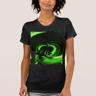 Abstract Neon Green Circle UFO Shirts