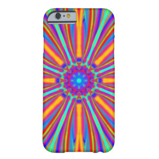 abstract Neon Orange & Blue Flower Barely There iPhone 6 Case
