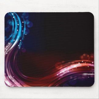 Abstract neon spectrum light effect mouse mat